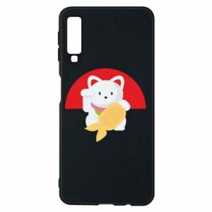 Phone case for Samsung A7 2018 Cat for luck - PrintSalon