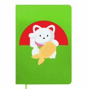 Notepad Cat for luck - PrintSalon