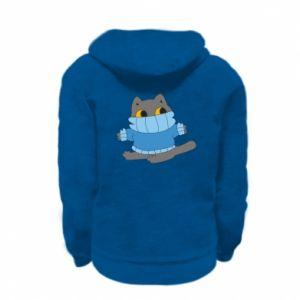 Bluza na zamek dziecięca Cat in a sweater