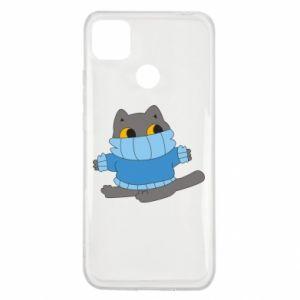 Etui na Xiaomi Redmi 9c Cat in a sweater