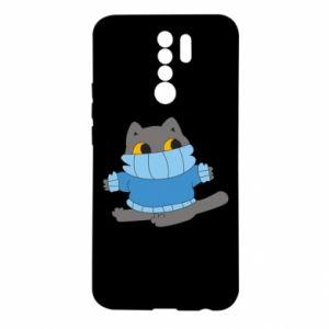 Etui na Xiaomi Redmi 9 Cat in a sweater