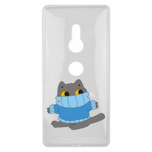 Etui na Sony Xperia XZ2 Cat in a sweater