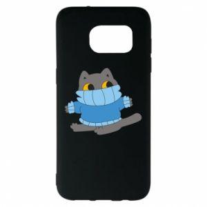 Etui na Samsung S7 EDGE Cat in a sweater