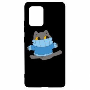 Etui na Samsung S10 Lite Cat in a sweater