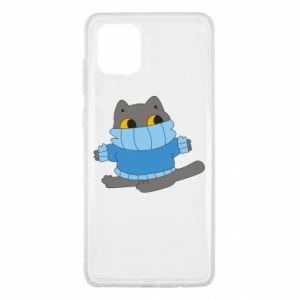 Etui na Samsung Note 10 Lite Cat in a sweater