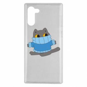 Etui na Samsung Note 10 Cat in a sweater