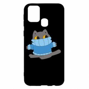 Etui na Samsung M31 Cat in a sweater