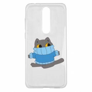 Etui na Nokia 5.1 Plus Cat in a sweater