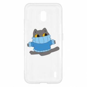 Etui na Nokia 2.2 Cat in a sweater