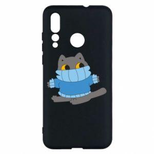 Etui na Huawei Nova 4 Cat in a sweater