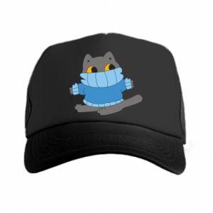 Czapka trucker Cat in a sweater