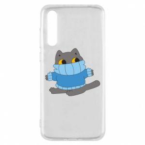 Etui na Huawei P20 Pro Cat in a sweater