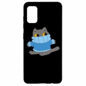 Etui na Samsung A41 Cat in a sweater