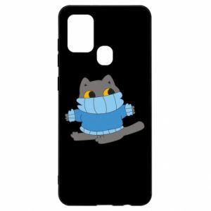 Etui na Samsung A21s Cat in a sweater