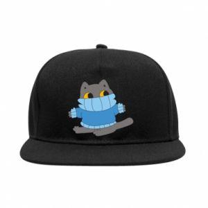 Snapback Cat in a sweater
