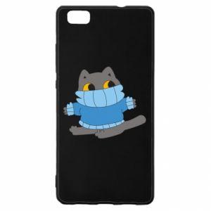 Etui na Huawei P 8 Lite Cat in a sweater