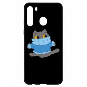 Etui na Samsung A21 Cat in a sweater