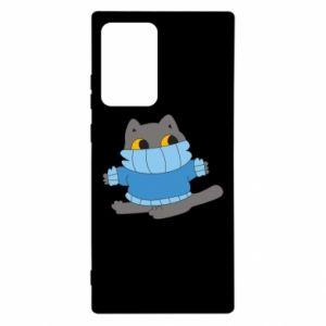 Etui na Samsung Note 20 Ultra Cat in a sweater