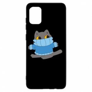Etui na Samsung A31 Cat in a sweater