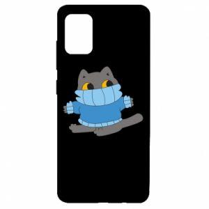 Etui na Samsung A51 Cat in a sweater