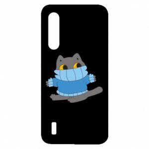 Etui na Xiaomi Mi9 Lite Cat in a sweater