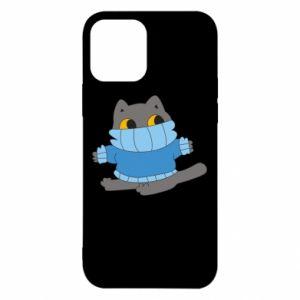 Etui na iPhone 12/12 Pro Cat in a sweater