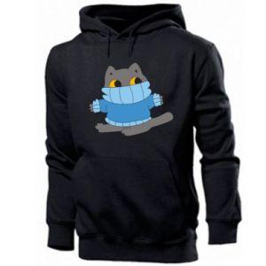 Bluza z kapturem męska Cat in a sweater