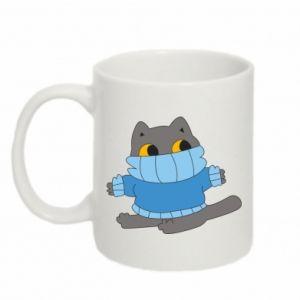 Mug 330ml Cat in a sweater