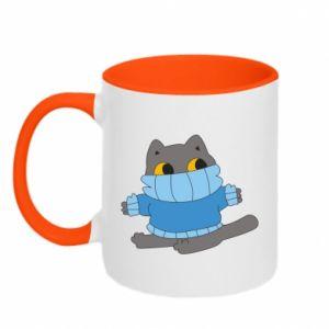 Kubek dwukolorowy Cat in a sweater