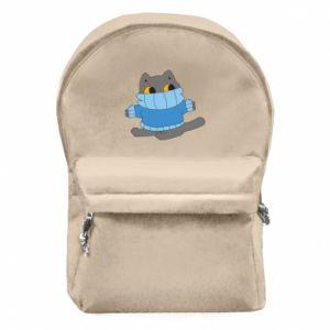 Plecak z przednią kieszenią Cat in a sweater