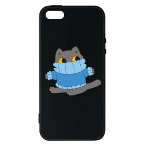 Etui na iPhone 5/5S/SE Cat in a sweater