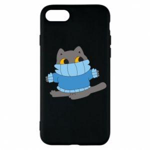 Etui na iPhone 7 Cat in a sweater