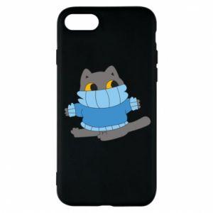 Etui na iPhone 8 Cat in a sweater