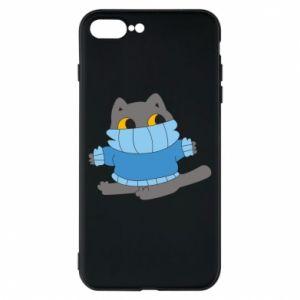 Etui na iPhone 8 Plus Cat in a sweater