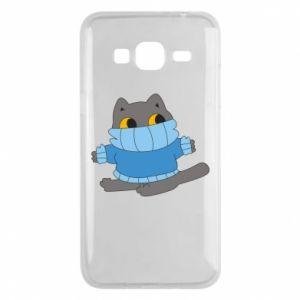 Etui na Samsung J3 2016 Cat in a sweater
