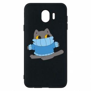 Etui na Samsung J4 Cat in a sweater