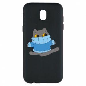Etui na Samsung J5 2017 Cat in a sweater