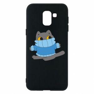 Etui na Samsung J6 Cat in a sweater