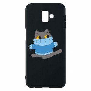 Etui na Samsung J6 Plus 2018 Cat in a sweater