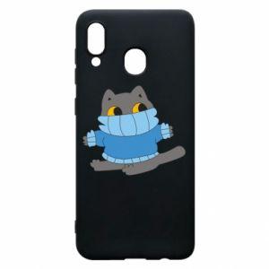 Etui na Samsung A30 Cat in a sweater