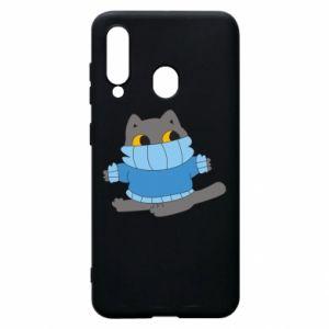 Etui na Samsung A60 Cat in a sweater