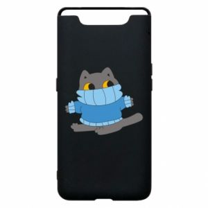 Etui na Samsung A80 Cat in a sweater