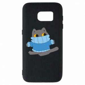 Etui na Samsung S7 Cat in a sweater