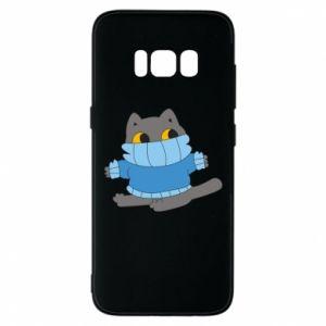 Etui na Samsung S8 Cat in a sweater