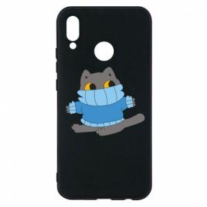 Etui na Huawei P20 Lite Cat in a sweater