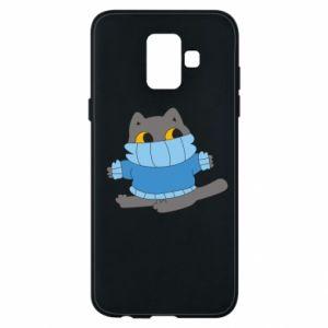 Etui na Samsung A6 2018 Cat in a sweater