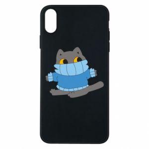 Etui na iPhone Xs Max Cat in a sweater