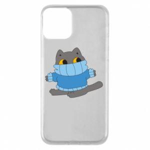 Etui na iPhone 11 Cat in a sweater