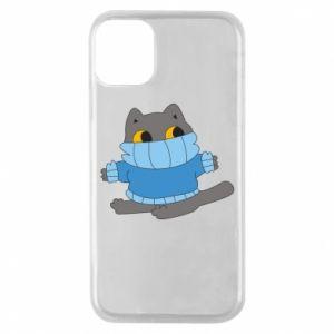 Etui na iPhone 11 Pro Cat in a sweater
