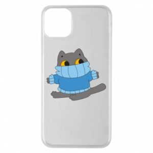 Etui na iPhone 11 Pro Max Cat in a sweater